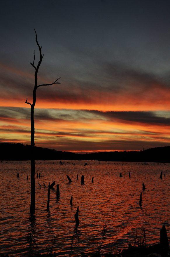 Sunset at Bucksaw, Harry S Truman Lake, Missouri. Copyright © 2011 Gary Allman, all rights reserved.