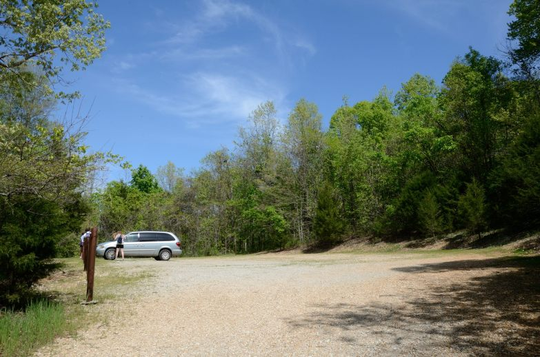 The south trailhead at Busiek is a well kept secret. Copyright © 2012 Gary Allman, all rights reserved.