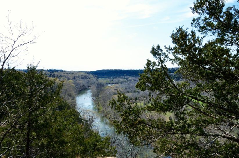 View from the bluff above Beaver Creek