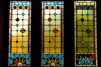St John's Episcopal Church Springfield - Stained glass window detail