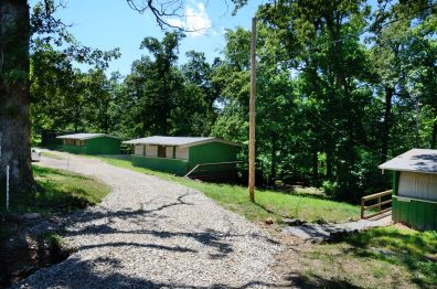 Photograph of the cabins at Camp Wakonda, Missouri
