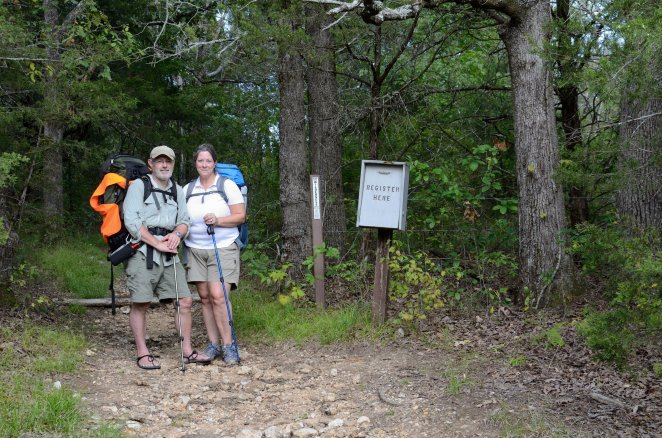 Gary and Ginger at the Coy Bald Trail Head