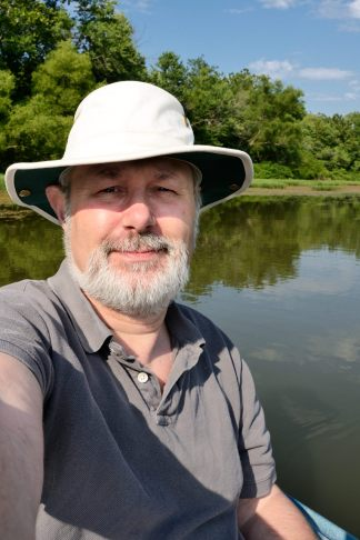 Self Portrait - in a kayak on the James River