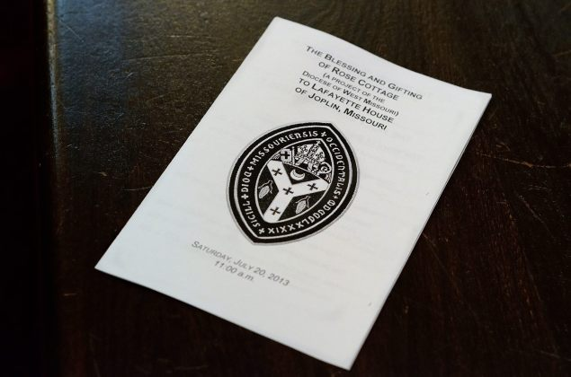 Rose Cottage Dedication - Order of Service