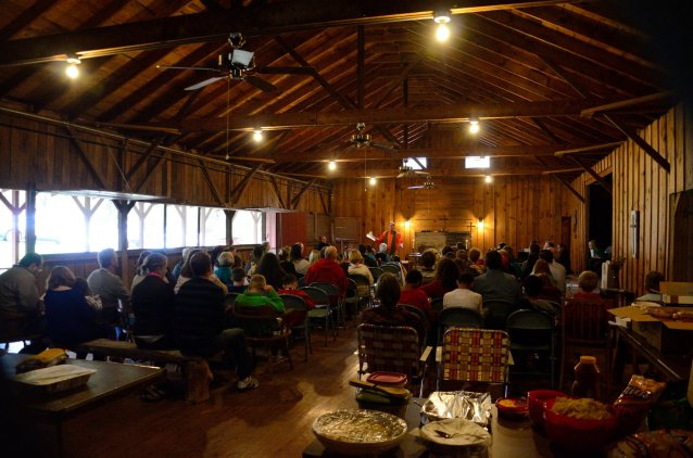 Sunday Service at Camp Shawio