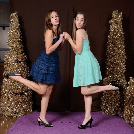 Lanie and Gabbie - I'm not sure why they wanted this pose...
