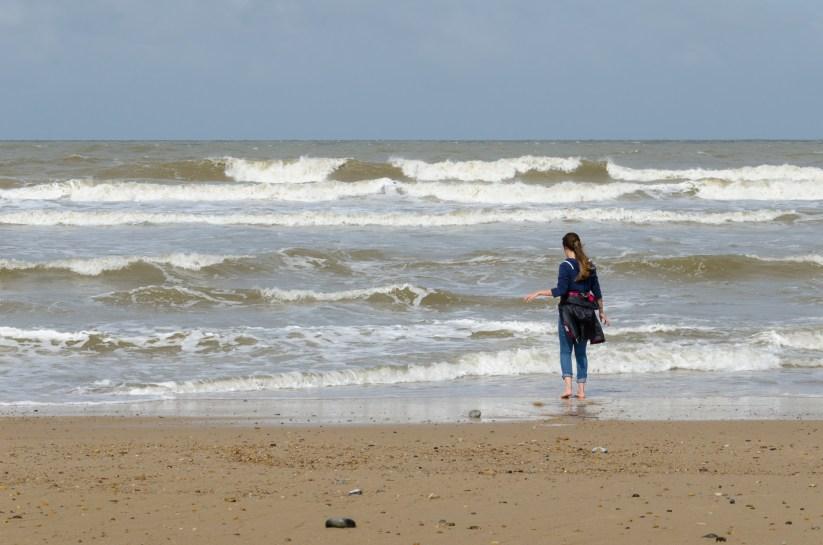 Lanie on the beach near Horsey, Norfolk