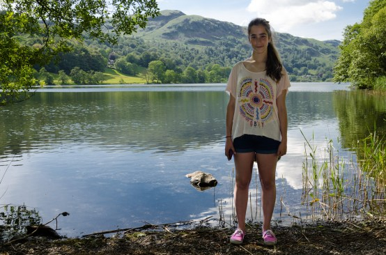 Lanie at Grasmere - The Lake District. Copyright © 2014 Gary Allman, all rights reserved.
