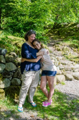Ginger and Lanie at Grasmere - The Lake District. Copyright © 2014 Gary Allman, all rights reserved.