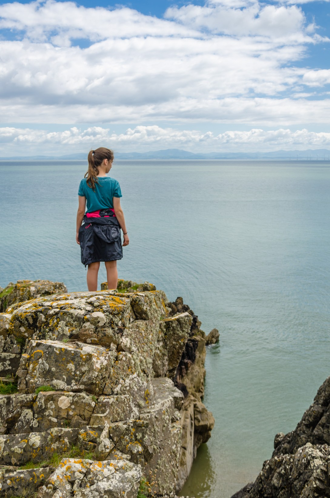 Looking out across the Solway Firth to the Lake District