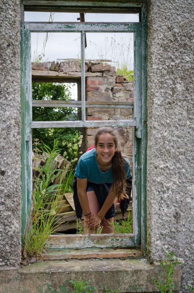 Lanie through the (broken) Window