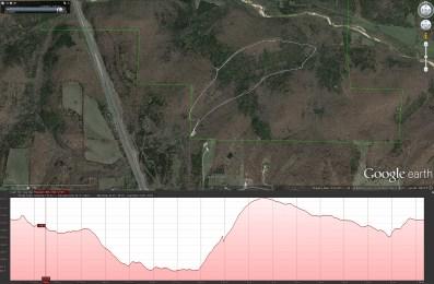 Map & elevation plot