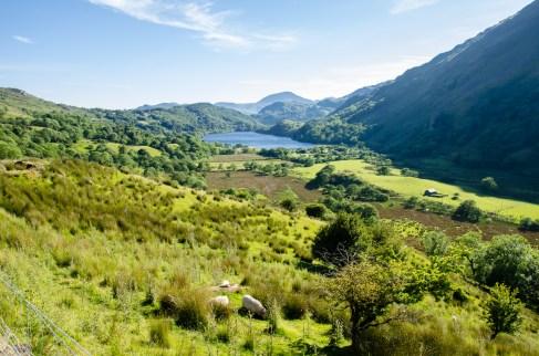 Snowdonia - Llyn Gwynant in the distance