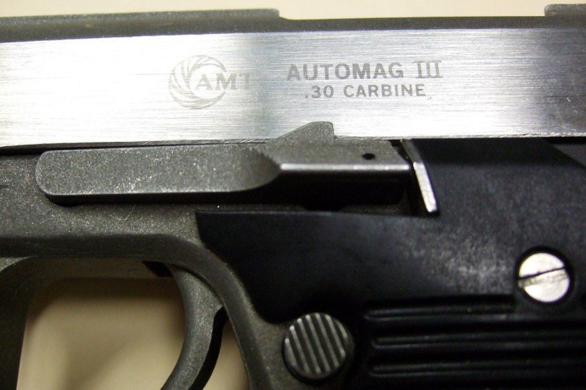 .30 Caliber, AMT, Automag III. Copyright © 2014 Gary Allman, all rights reserved.