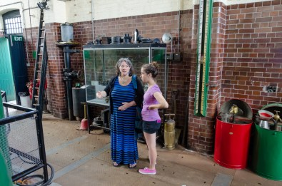 Ginger and Lanie in the Gas Engine House