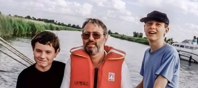Photograph of Gary Allman Sailing on the River Thurne, Norfolk Broads.