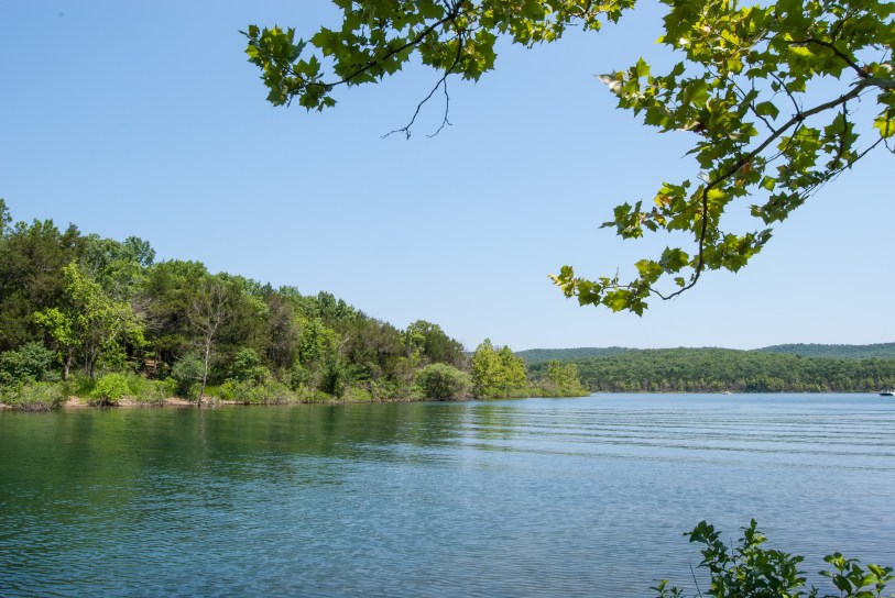 Super views across Table Rock Lake from the beach next to our campsite. Copyright © 2010 Gary Allman, all rights reserved