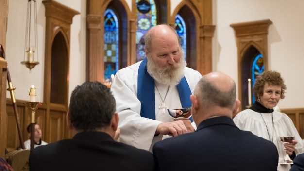 The Rev. James Lile's first Eucharist as Rector at All Saints' Episcopal Church, Nevada, Missouri.