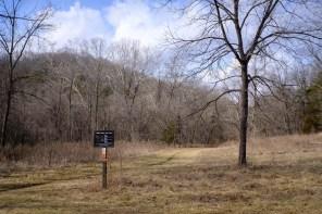 The start / end of the Busiek Orange Trail