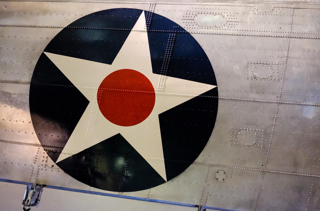 Wing Decal - Not sure but possibly on the Douglas B-18 Bolo at the National Museum of the US Air Force.