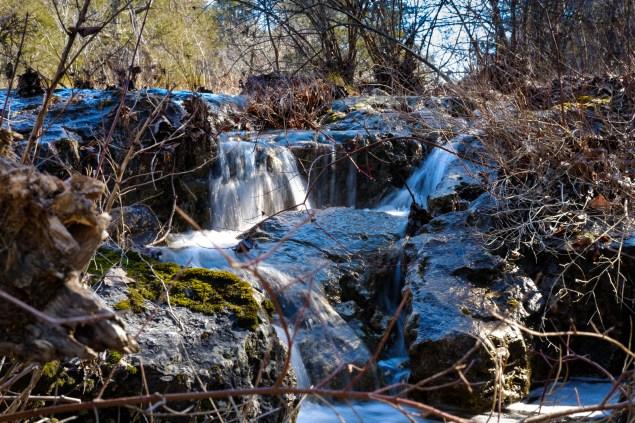 Rushing - Small falls on Long Creek