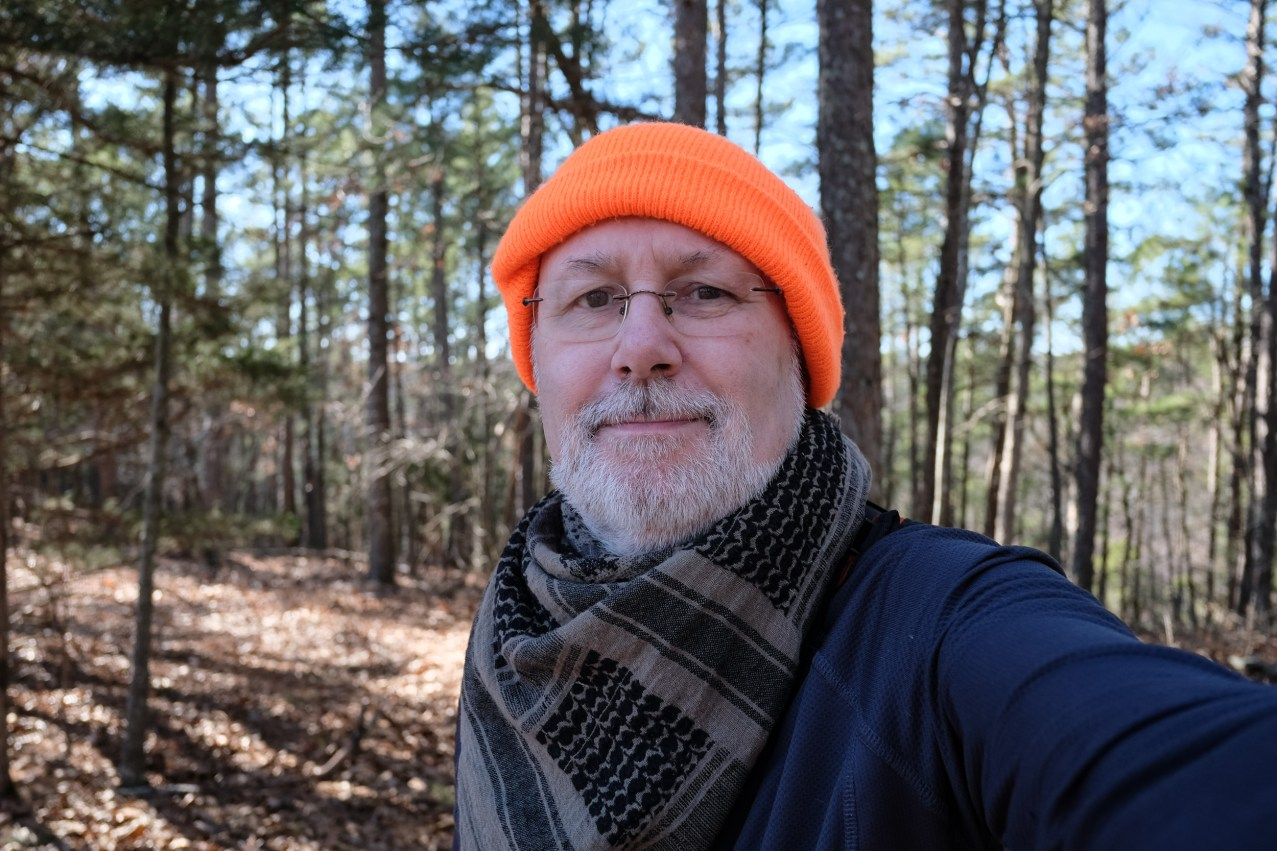 A more serious Gary in the woods. Copyright © 2020 Gary Allman, all rights reserved.