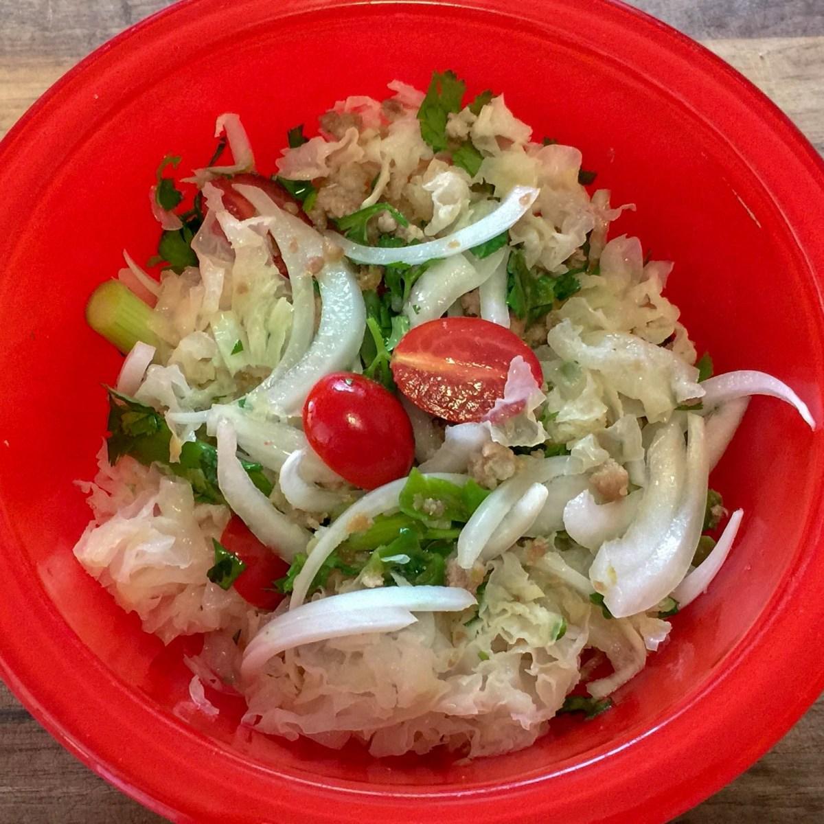 Mouse Ear Mushroom Salad ~ Yam Het Huu Nuu Khad