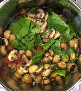 Image of Greens, Tomatoes, and Stock Added