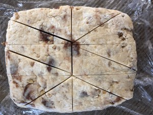 Image of Scone Dough Cut into Triangles