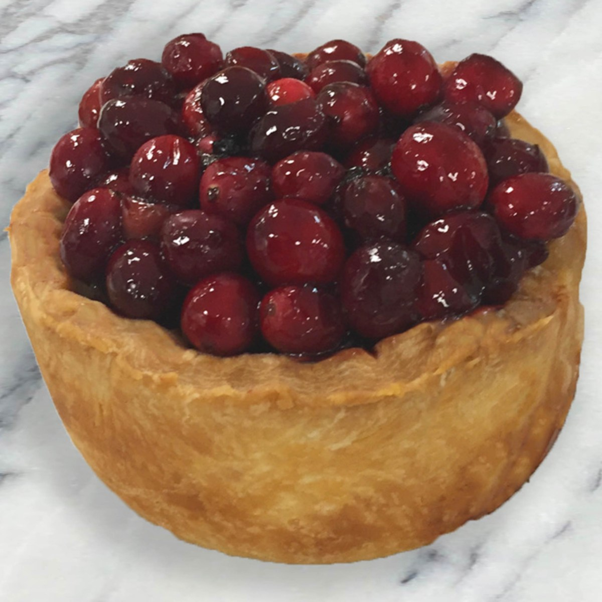 Vension Pies Topped with Port Glazed Cranberries