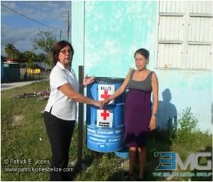 Red Cross donates garbage bins