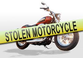 stolen motorcycle banner