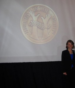 Psychiatry Deception -Image of Natalie Bymaster at mental health awards ceremony.