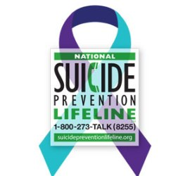 National Suicide Prevention Life Line 1-800-273-TALK (8255)
