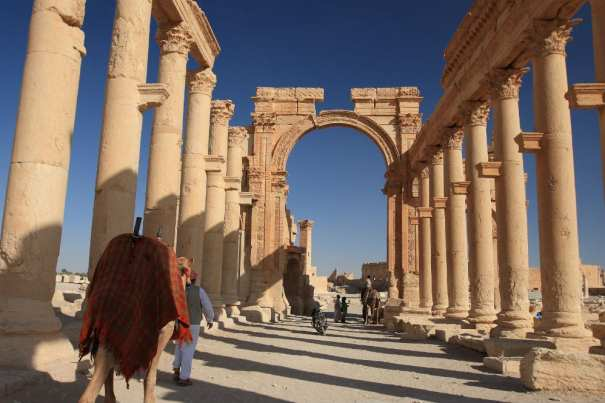 The Colonnade in Palmyra, Syria, before it was destroyed by ISIS. (nikidel / Shutterstock.com)