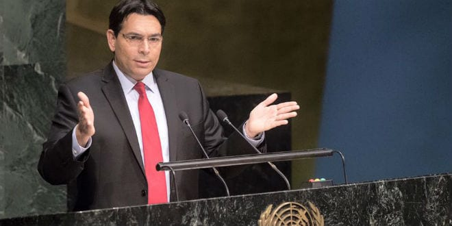 Israeli Ambassador to the UN, Danny Danon, speaks at the UN. (Photo: Danny Danon Official Facebook)