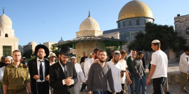 Jewish visitors to the Temple Mount during Sukkot, October 23, 2016. (Facebook Page: Students for the Temple Mount)