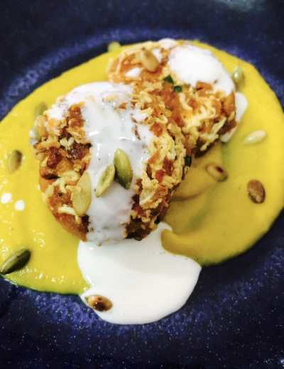 Butternut squash kofta curry