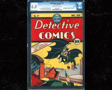 Batman 1939 Comic Sells for $850k!!! Caped Crusader's Debut