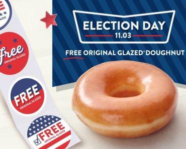 Krispy Kreme Giving Free Doughnuts to Voters on Tuesday