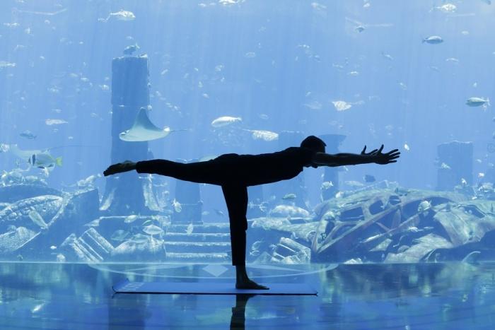 Underwater Yoga returns to Atlantis, the Palm 1