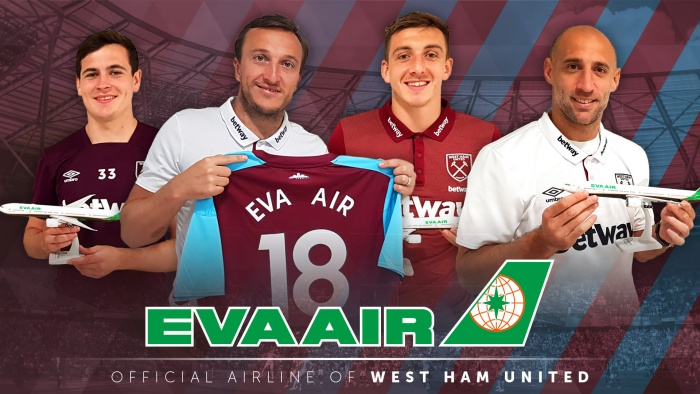 Eva Air partners with West Ham for upcoming Premier League season 1