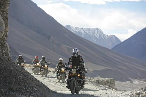 Gruppe Motorrad Fahrer