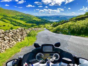 Motorrad mit Aussicht