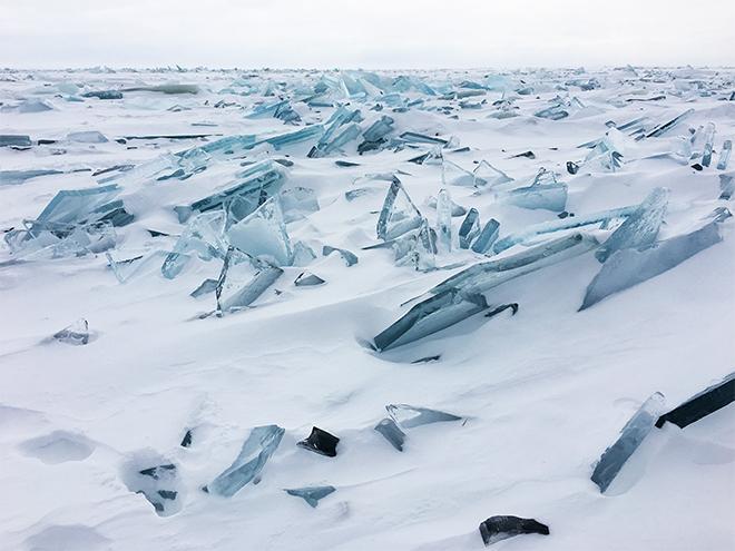 lake superior stacked ice