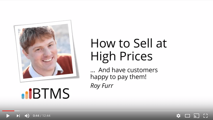 [Video] How to sell at high prices
