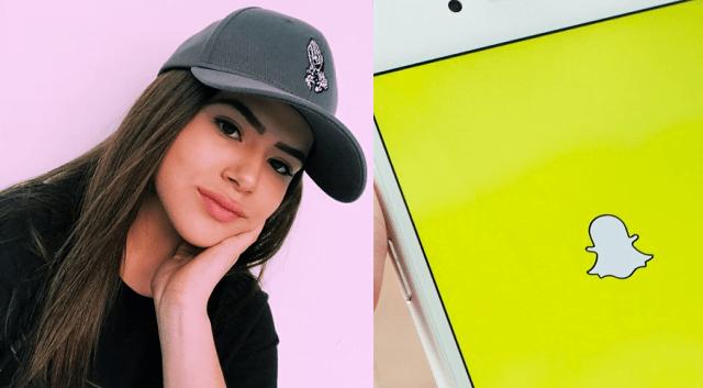Snapchat dos atores de Carinha de Anjo (Reprodução/Internet)