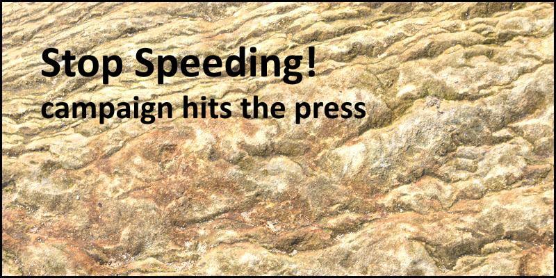 Powburn stop speeding campaign hits the press header