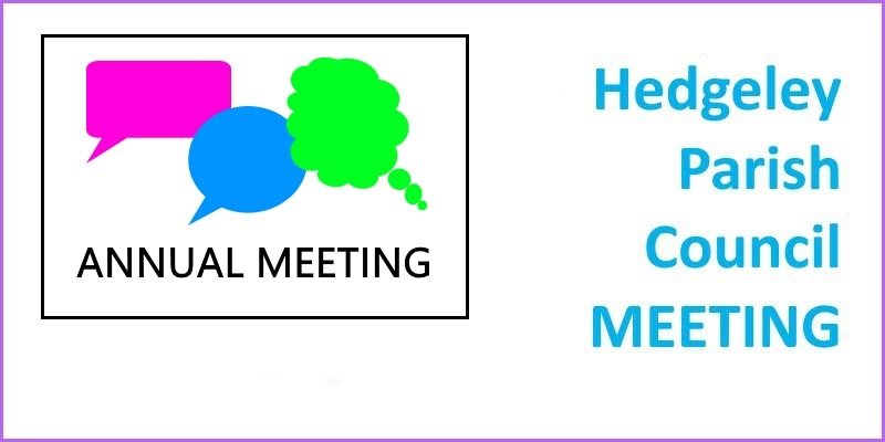Hedgeley Parish Council Annual meeting header