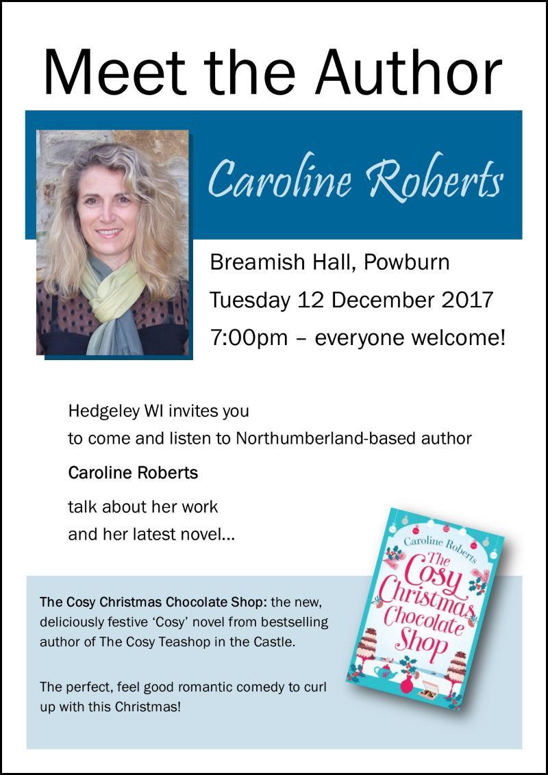 Meet the Author Caroline Roberts Powburn 2017